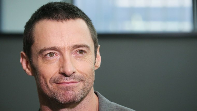 NEW YORK, NY - OCTOBER 14:  Hugh Jackman attends the meet & greet for 'The River' at their rehearsal studio on October 14, 2014 in New York City.  (Ph...