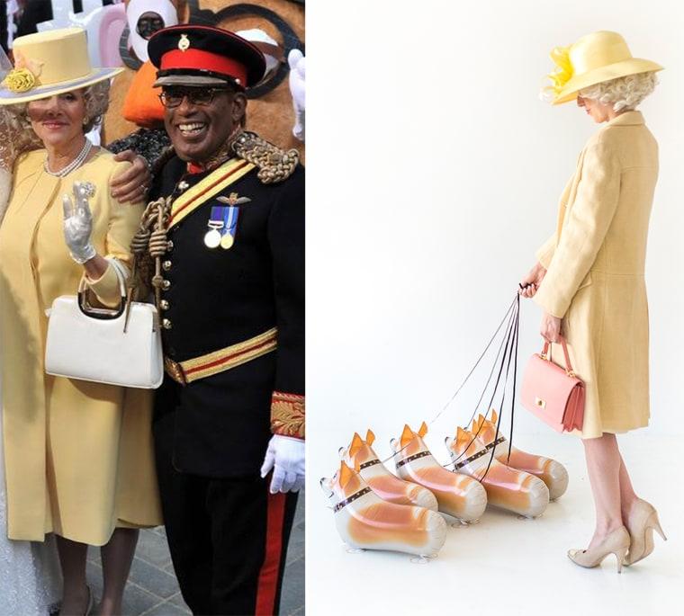 The Queen of England DIY costume
