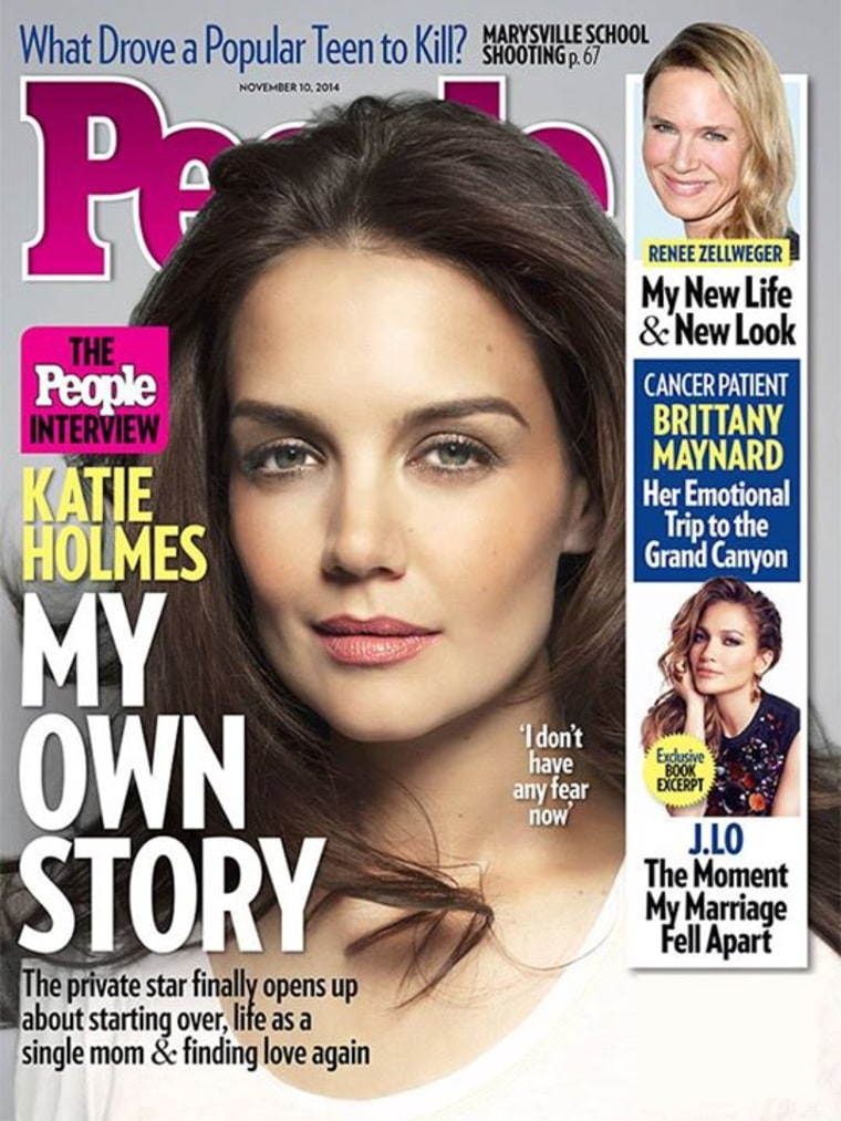 Image: People magazine with Katie Holmes on the cover