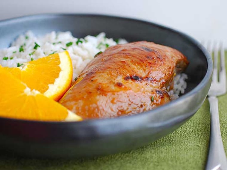 Baked Asian Orange Ginger Chicken Breasts