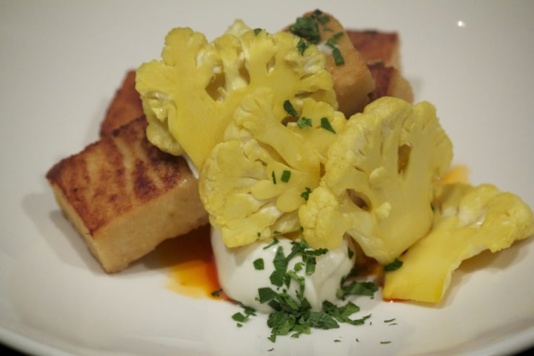 Caprial Pence's curry cauliflower pickle from Bookstore Bar and Cafe at Seattle's Alexis Hotel