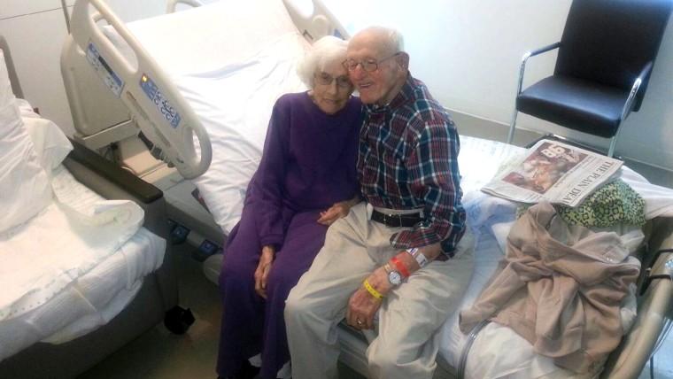 "Raymond ""Huggie Bear"" Huggins and his wife, Mazie Leota, both had life-saving heart surgery on the same day."