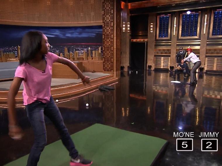 """Mo'Ne Davis strikes out Jimmy Fallon on """"The Tonight Show."""""""