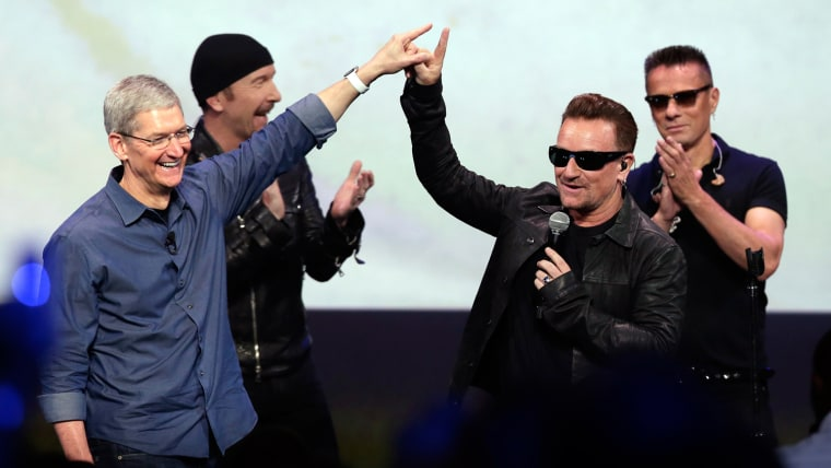 Image: U2 and Tim Cook