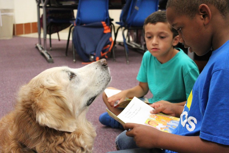 Bretagne helps kids read at school