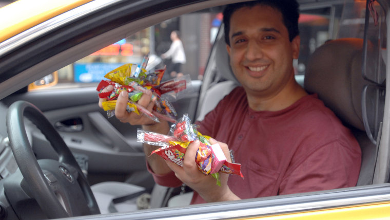 """Candy cabbie"" Mansoor Khalid gives passengers as much candy as they want. Khalif mission is to cheer up New Yorkers with a daily dose of candy. Khali..."