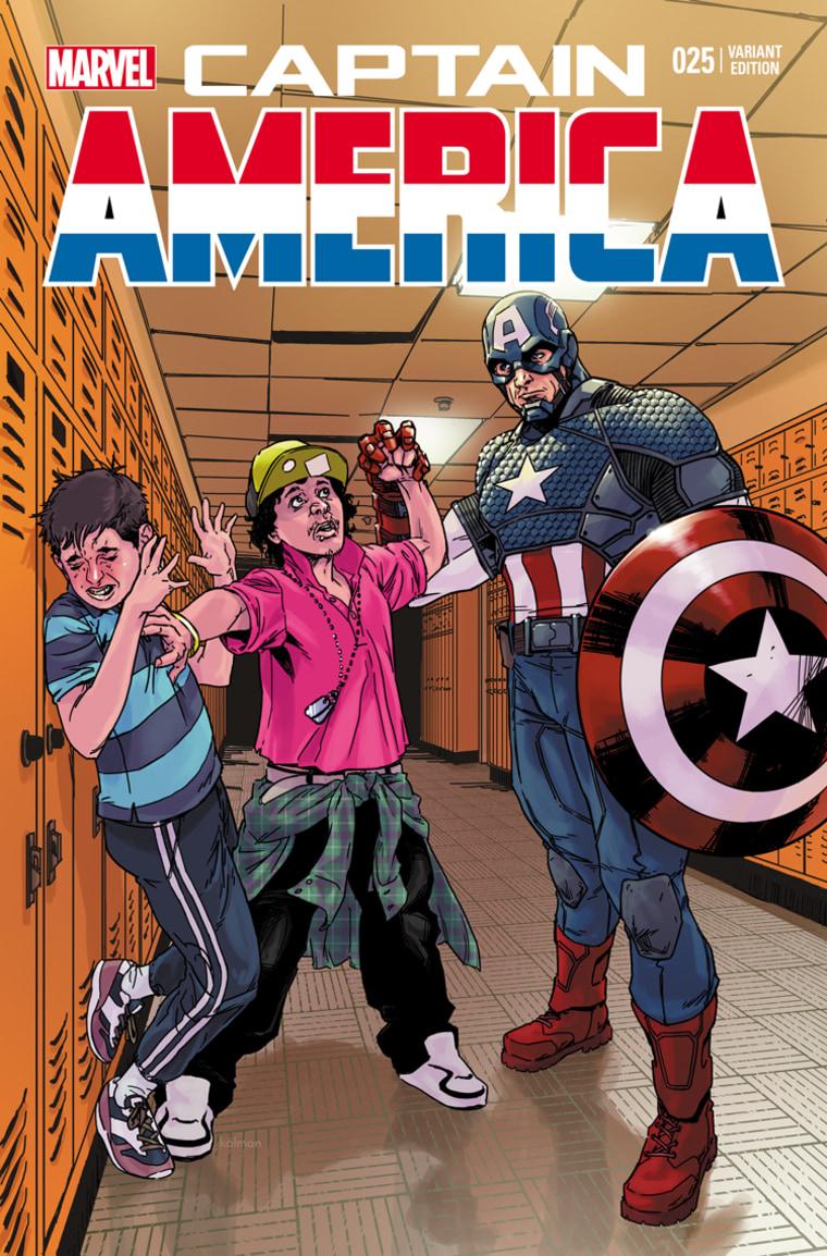 Captain America battles bullying.