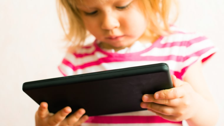 child uses a Tablet PC; Shutterstock ID 133701464; PO: today.com