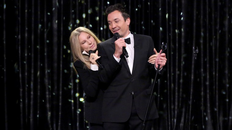Image: Barbra Streisand and Jimmy Fallon