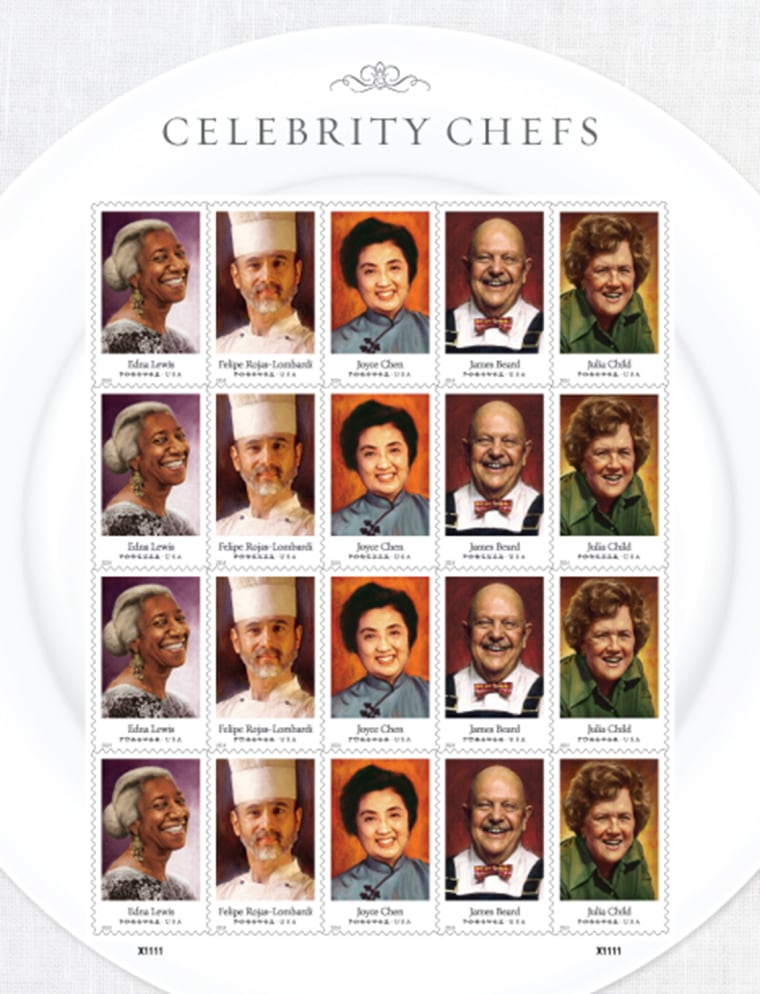 Celebrity chef stamps