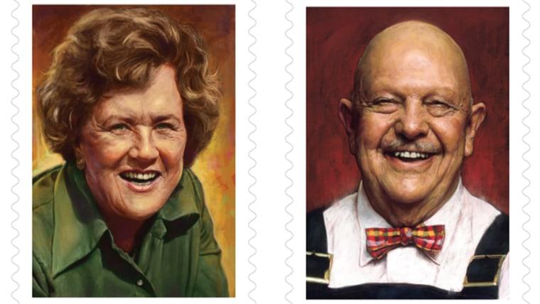 Julia Child, James Beard stamps
