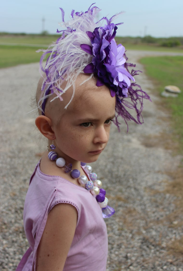 Brooke Hester lives with stage-4 neuroblastoma, a cancer that forms in nerve tissue.
