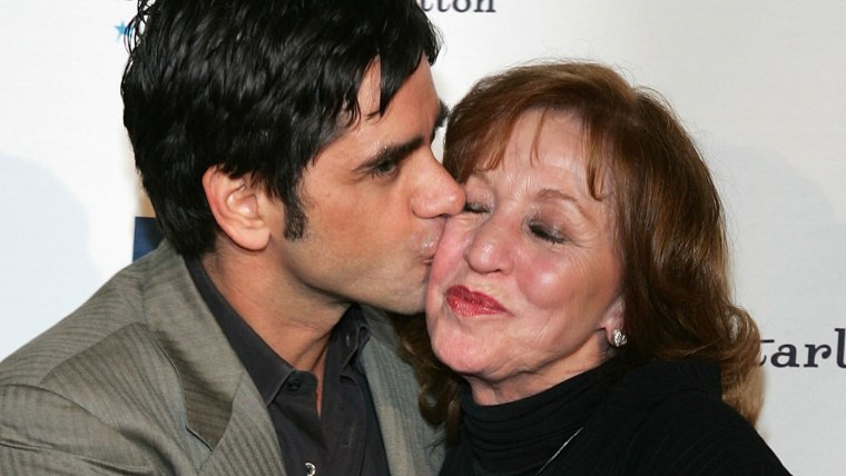 Image: John Stamos with his mother Loretta in 2006.