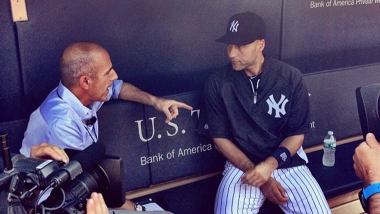 Matt Lauer and Derek Jeter