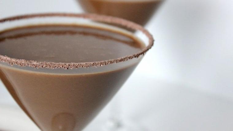 Chocolate milk martini
