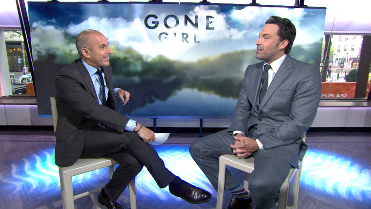 Image: Matt Lauer and Ben Affleck