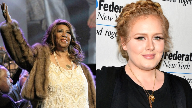 Image: Aretha Franklin and Adele