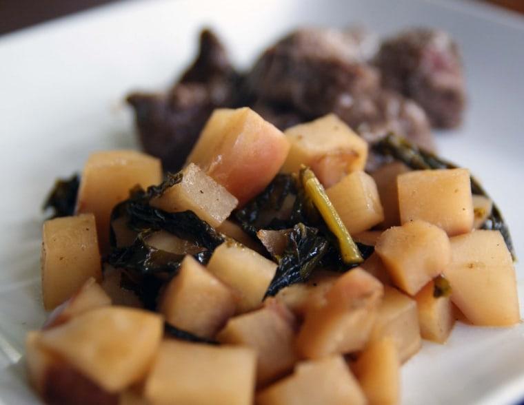 cider-braised turnips