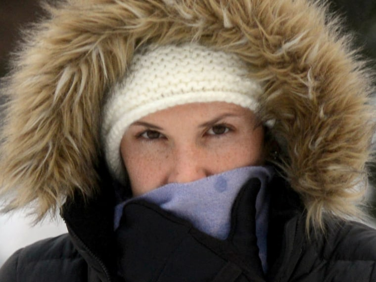 A woman in cold winter weather
