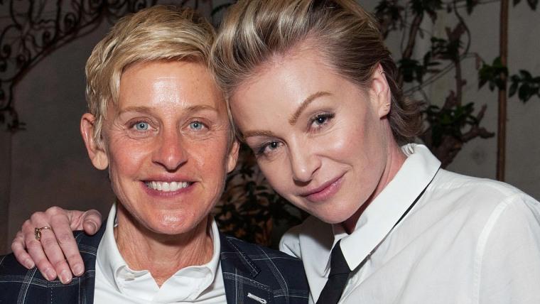 Image:  Ellen DeGeneres and Portia de Rossi