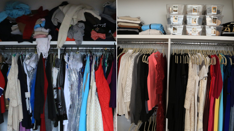 Hoda's closet: Before and after Jill's makeover.