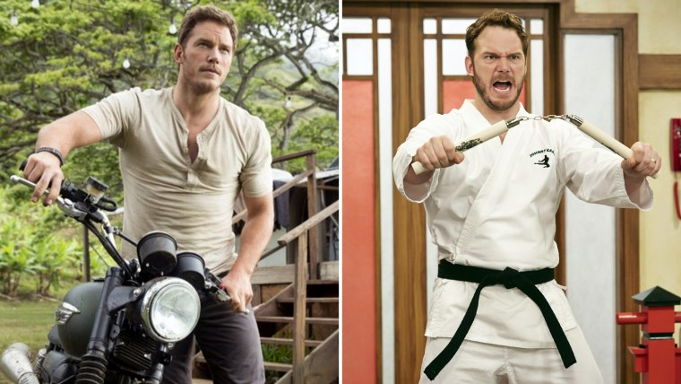 """Chris Pratt in both \""""Jurassic World\"""" and NBC's \""""Parks and Recreation.\"""""""