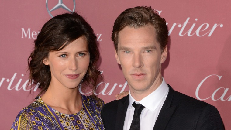 Actors Sophie Hunter and Benedict Cumberbatch attend the 26th Annual Palm Springs International Film Festival.