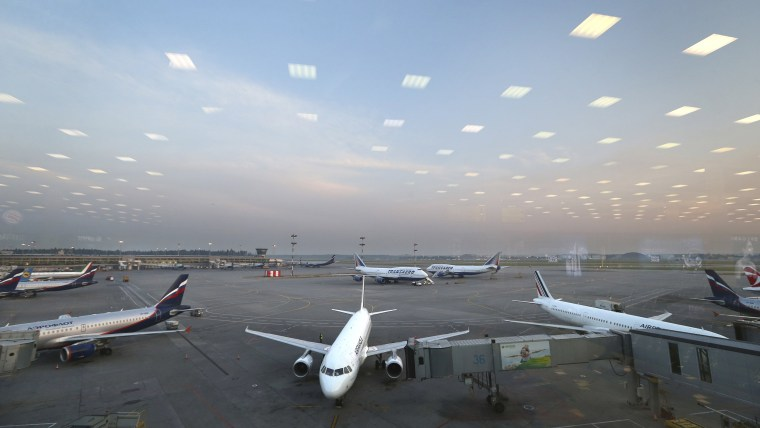 Planes at Russian airport