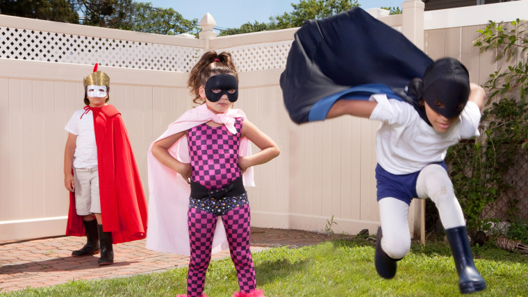 kids, children, costume, superhero, DIY, backyard, kids, play, playing, super
