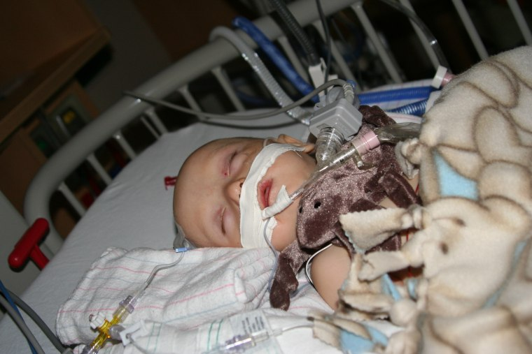 Emmett as a baby at Phoenix Children's Hospital