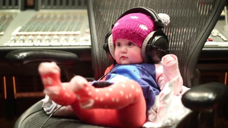 River Rose loves her mom's new tune