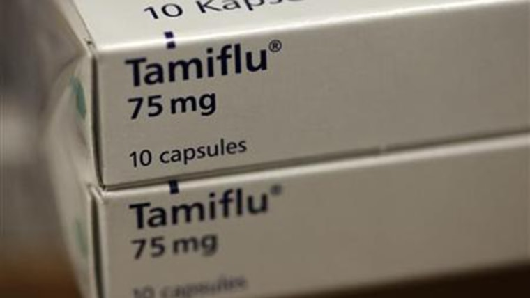 Packets of Tamiflu tablets.