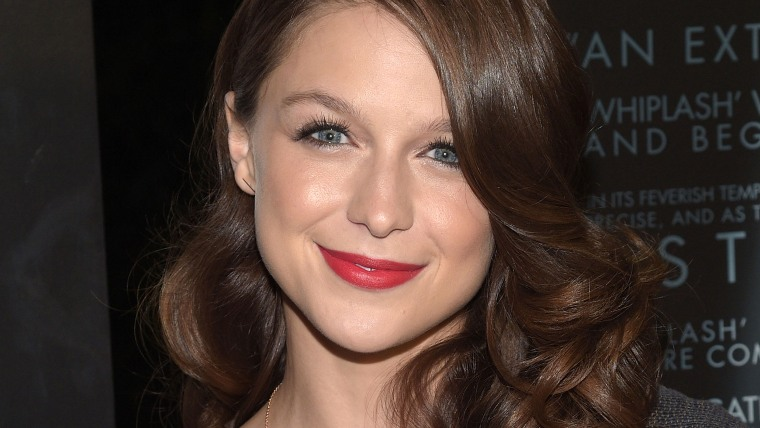 """LOS ANGELES, CA - OCTOBER 06:  Actress Melissa Benoist attends the premiere of """"Whiplash"""" at Bing Theatre At LACMA on October 6, 2014 in Los Angeles, ..."""
