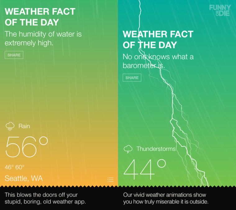 Funny or Die weather app