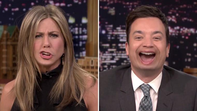Image: Jennifer Aniston and Jimmy Fallon