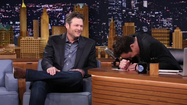 Image: Blake Shelton and Jimmy Fallon.
