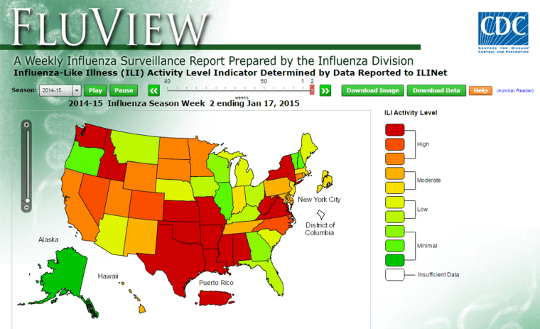 Flu's widespread in 44 states, the CDC reports in its latest look at influenza