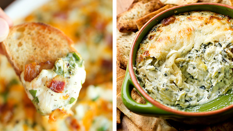 Spinach and Artichoke Dips