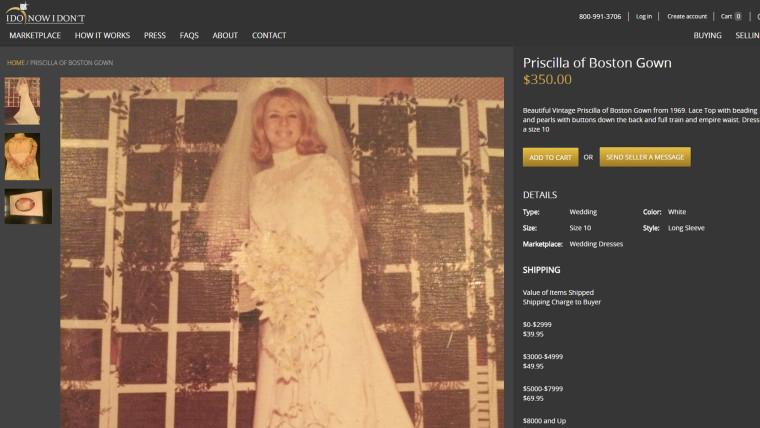 Image: wedding dress for sale