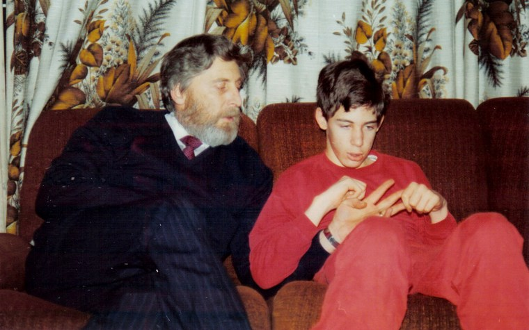 Martin Pistorius and his father, Rodney