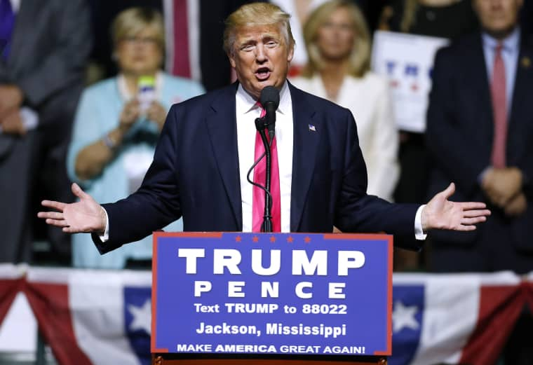 Image: Donald Trump Holds Campaign Rally In Jackson, MS