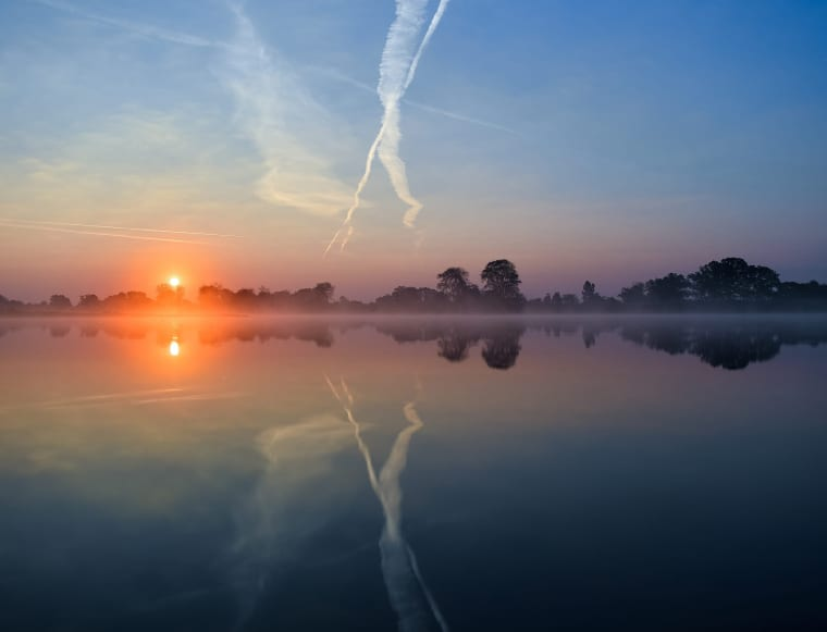 Image: Sunrise over the Oder river