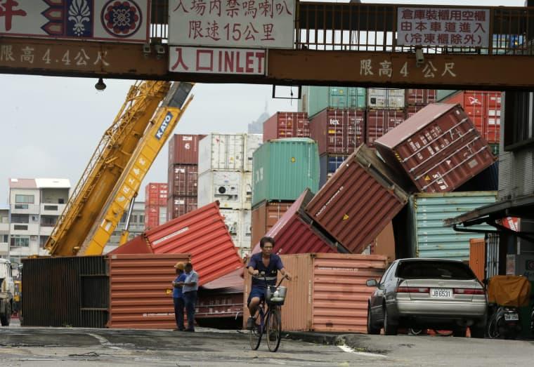 Image: Super Typhoon Meranti aftermath in Taiwan