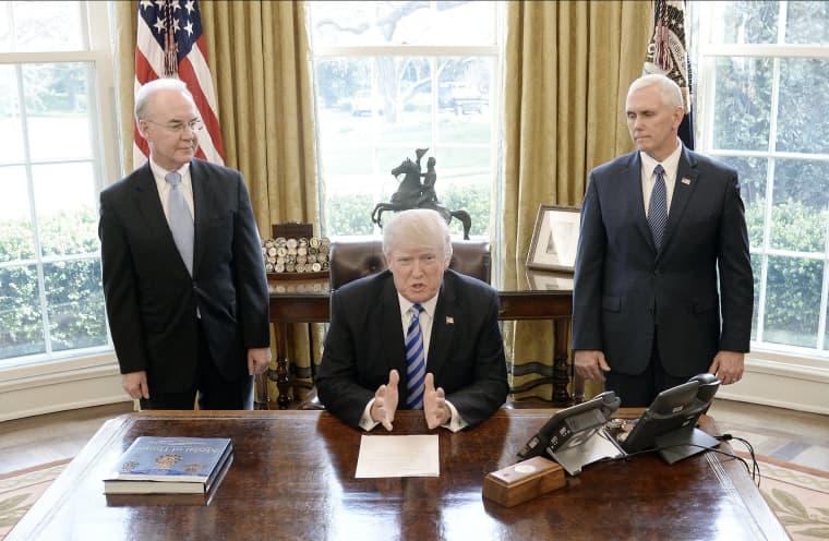 Image: BESTPIX President Trump Speaks After House GOP Pulls Vote On American Health Care Act