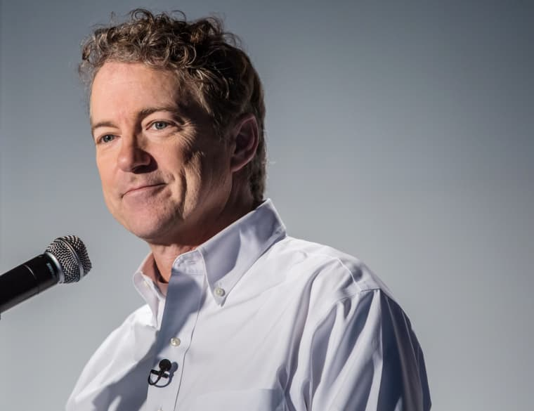 Image: Republican Presidential Candidate Rand Paul Campaigns In Iowa