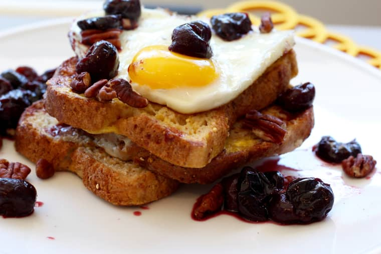 This Protein-Rich Cherry French Toast swaps in warm fruit for butter.