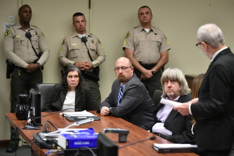 Image: David Turpin and Louise Turpin appear in court for their arraignment in Riverside