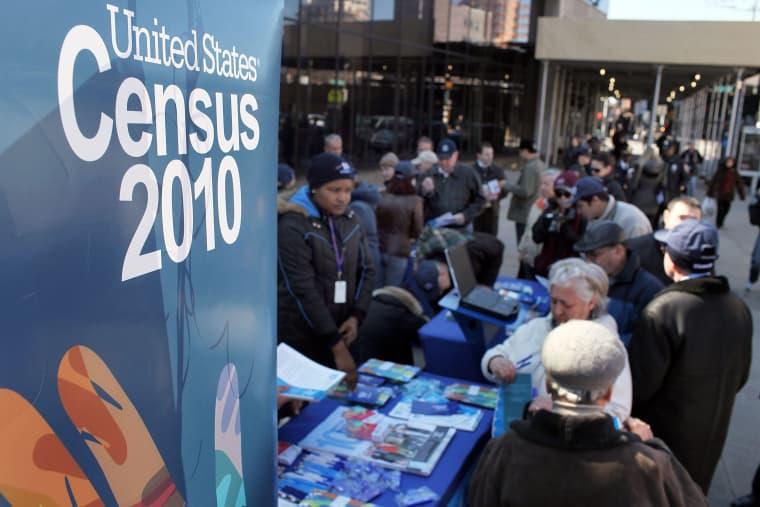 Image: Census Staff Work To Encourage Participation In Brighton Beach, Brooklyn