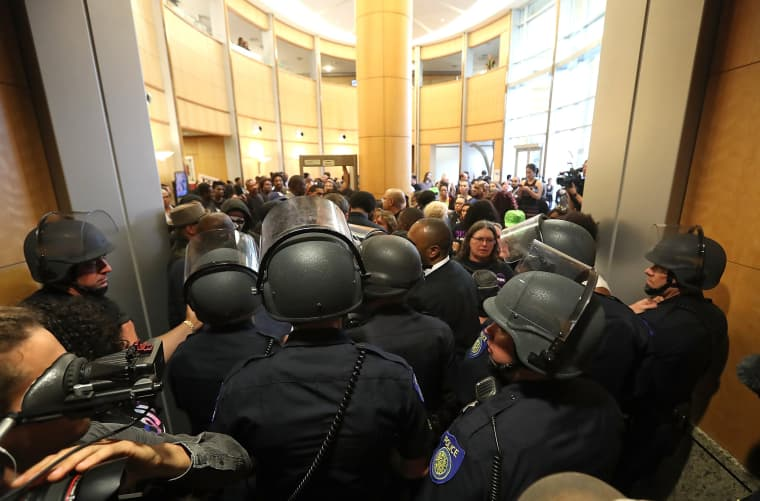 Image: ***BESTPIX*** Hundreds Attend Sacramento City Council Meeting On Death Of Stephon Clark