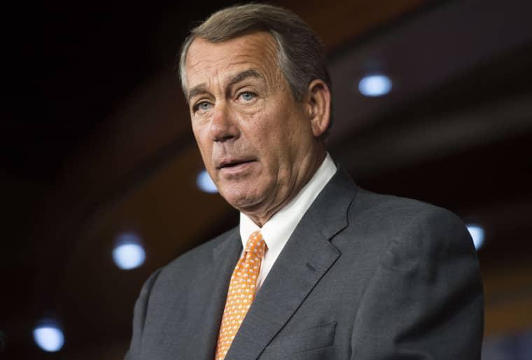 Image: John Boehner speaks during a press conference on Capitol Hill